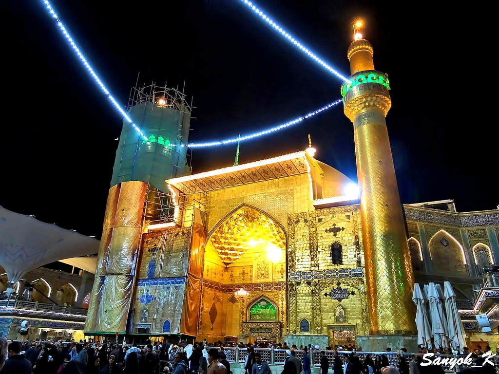 315 Najaf Shrine of Imam Ali Наджаф Мечеть Мавзолей Имама Али